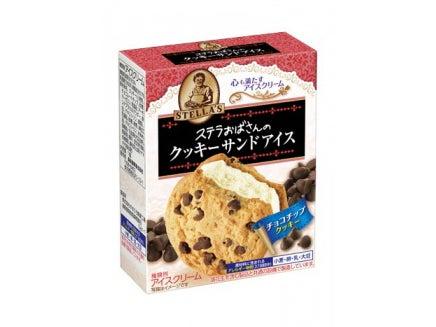 森永製菓 ステラおばさんのクッキーサンドアイ ス<チョコチップクッキー>