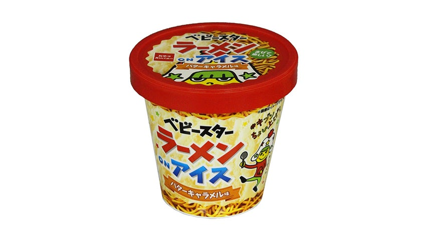 おやつカンパニー ベビースターラーメンonアイス(バターキャラメル味)
