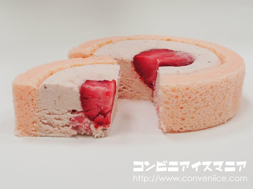 ミニストップ ストロベリーロールケーキアイス