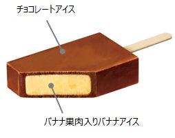 赤城乳業 LOOKチョコレートアイスバー バナナ