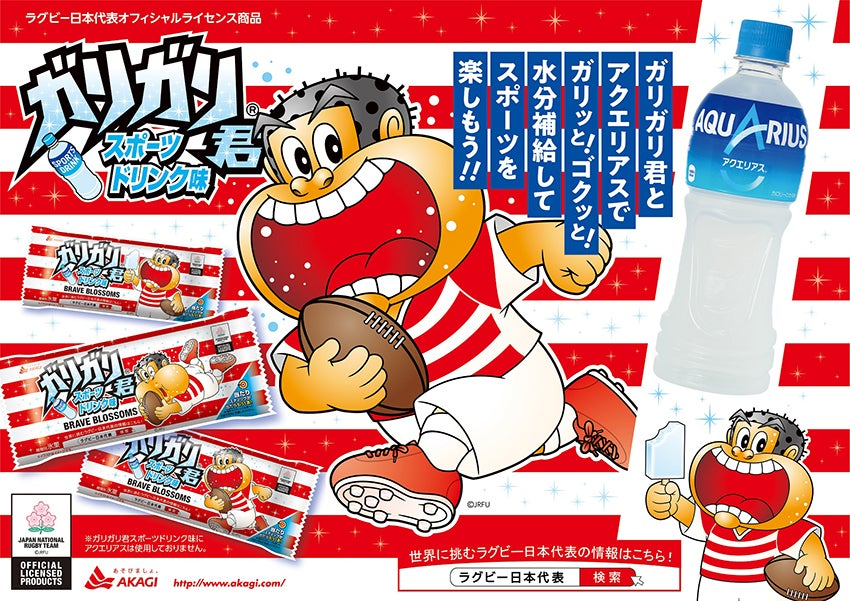 赤城乳業 ガリガリ君 スポーツドリンク味(ラグビー日本代表デザイン)