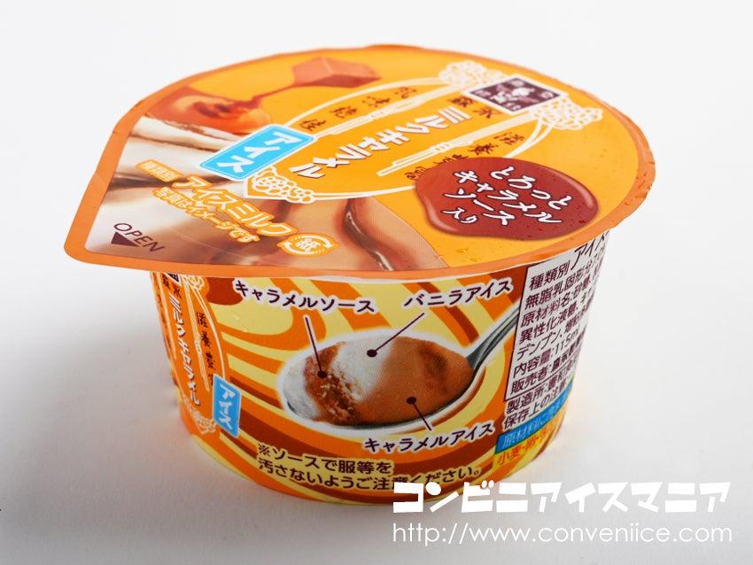 森永製菓 森永ミルクキャラメルアイス とろっとキャラメルソース入り