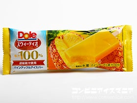 ロッテ Doleスウィーティオ果汁100%パインアップルアイスバー