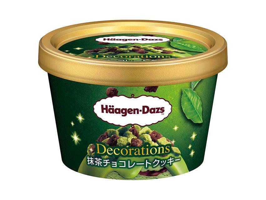 ハーゲンダッツ ミニカップ Decorations(デコレーションズ)『アーモンドキャラメルクッキー』、同『抹茶チョコレートクッキー』