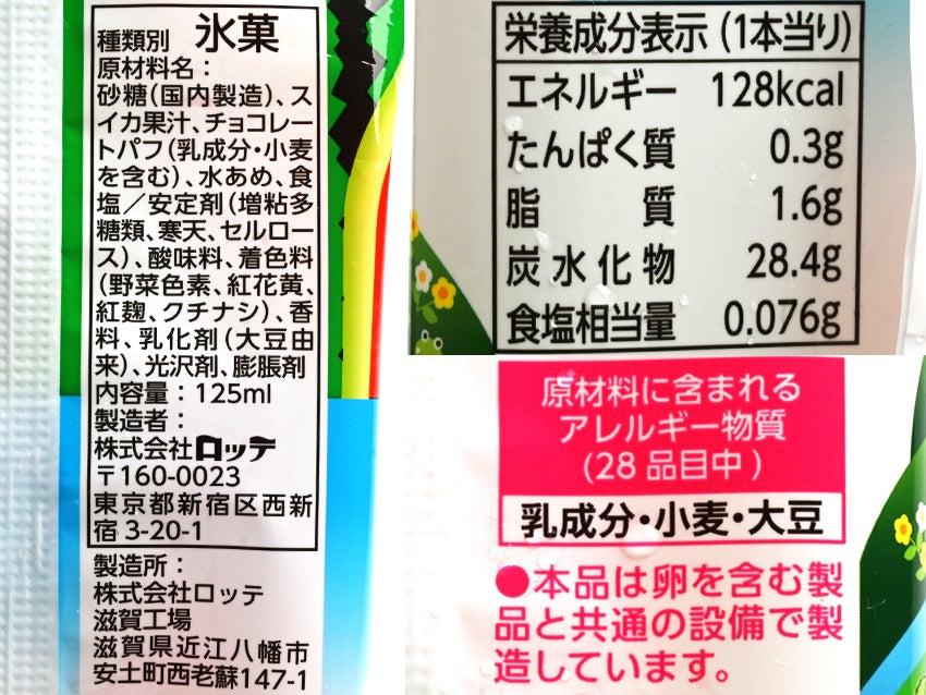 ロッテ BIGスイカバー チョコ種200%
